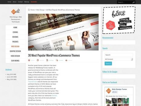 30 Most Popular WordPress eCommerce Themes – Web Design Tunes | Digital Marketing | Scoop.it