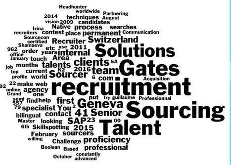 Comment un sourceur cherche les talents ? Optimisez votre « trouvabilité » | Recherche d'emploi | Scoop.it