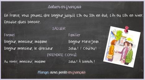 Saluer en français | FLE enfants | Scoop.it