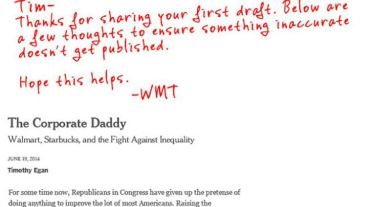 RED PEN REBUTTAL Walmart issues scathing response to NYT columnist
