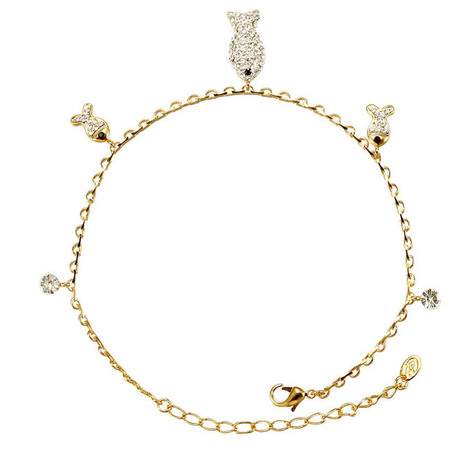 Cute Diamond Fish Pendant Anklet Bracelet Fashion Alloy Anklet Bracelet -US$ 10.09 | women fashion accessories | Scoop.it