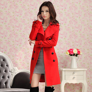 Aliexpress.com : Buy Free Shipping Autumn And Winter Coat For Women 2013 Fashion Red Double Breasted Cashmere Long Outerwear Sent With Belt N100935 from Reliable coat suppliers on BEST SHOW. | peaceful lady | Scoop.it