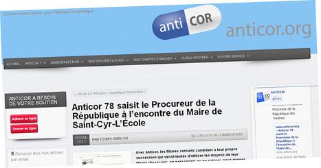 Anticor accuse le maire UMP de Saint-Cyr-L'École de détournement de fonds publics en vue de sa campagne électorale   Reucyr, liste candidate Centre-Droite républicaine aux élections municipales 2014 de Saint-Cyr-L'Ecole (Yvelines)   Scoop.it