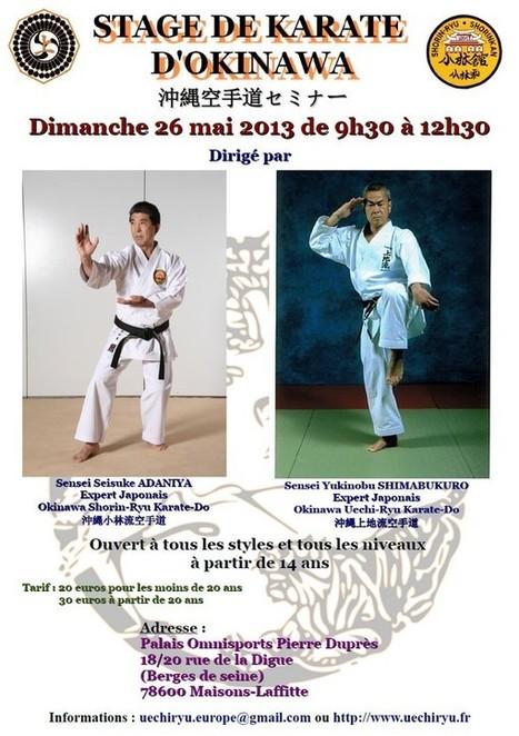 [Annonce] 沖縄空手道セミナー – Stage de Karate d'Okinawa – 26 mai ... | Kamae do Blog | Scoop.it
