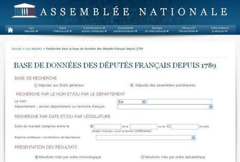 Article du jour (168) : les députés Français depuis 1789 | CGMA Généalogie | Scoop.it