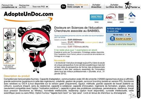 """Concours photo """"Adopte-un-doc.com"""" [16 février au 1er mai 2015]   Poursuite de carrière des docteurs - PhDs career   Scoop.it"""
