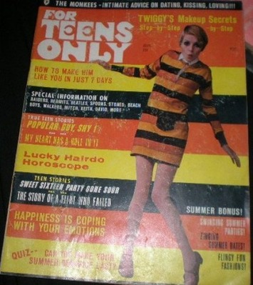 1967 For Teens Only Magazine Mod Twiggy Cover | Kitsch | Scoop.it