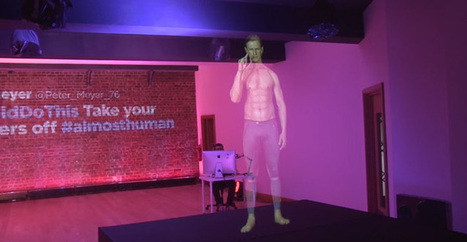 Un androïde holographique commandé par les tweets des Londoniens | Tendances publicitaires et marketing | Scoop.it
