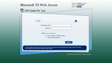 Custom Microsoft TS Web Access Portfolio | Interface Customization Services | Scoop.it