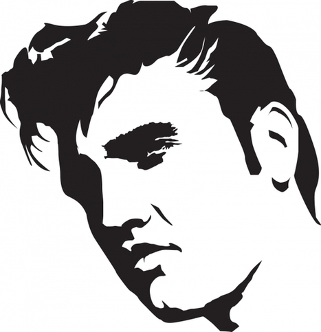 » FREE AIRBRUSH STENCIL – Elvis | silhouettes | Scoop.it