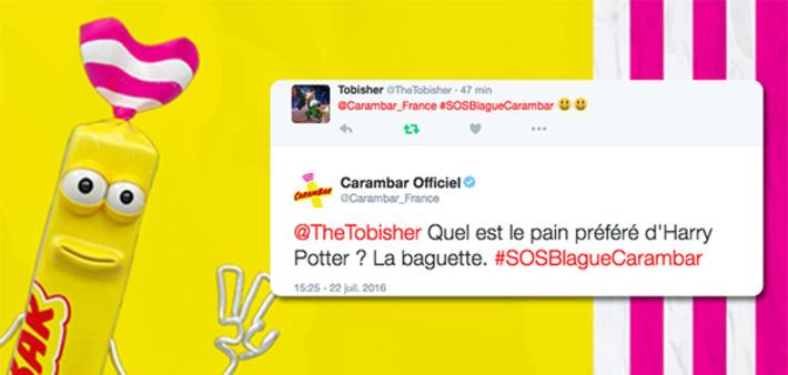 Carambar lance un service de blague à la demande sur Twitter | Médias sociaux : Conseils, Astuces et stratégies | Scoop.it