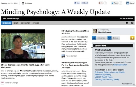 July 31 - Minding Psychology: A Weekly Update | Psychology Professionals | Scoop.it