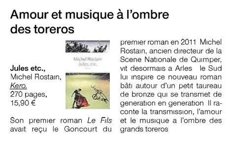 Ouest France nous parle de Jules, etc. ! | Michel Rostain | Scoop.it