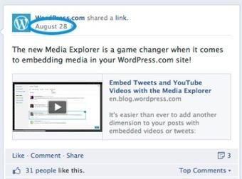 Ya se pueden incrustar posts de Facebook en blogs de Wordpress.com | Tecnología y Educación | Scoop.it