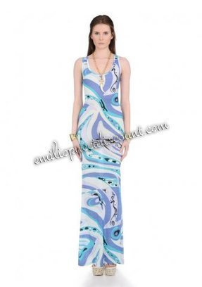 Online Emilio Pucci Blue Printed Sleeveless Tank Long Dress [Sleeveless Tank Long Dress] - $218.99 : Emilio pucci dresses online outlet,discount pucci dresses on sale! | chic items | Scoop.it