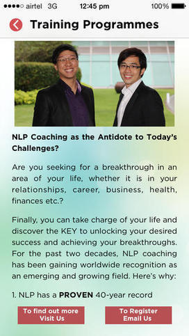 Download the Singapore and the region's FIRST-EVER NLP Mobile App! | NLP Training and Courses | Scoop.it