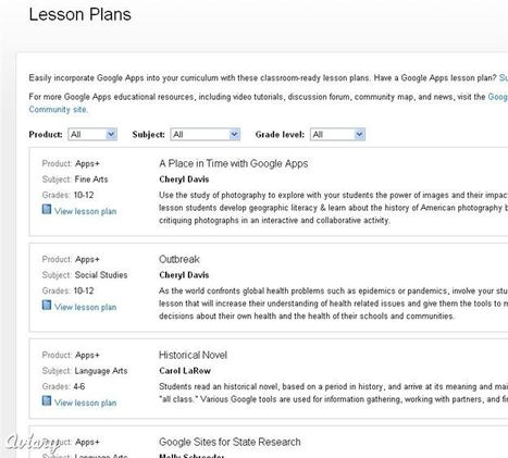 Educational Technology Guy: Lesson Plans using Google Apps in Education | Calling All Lecturers | Scoop.it