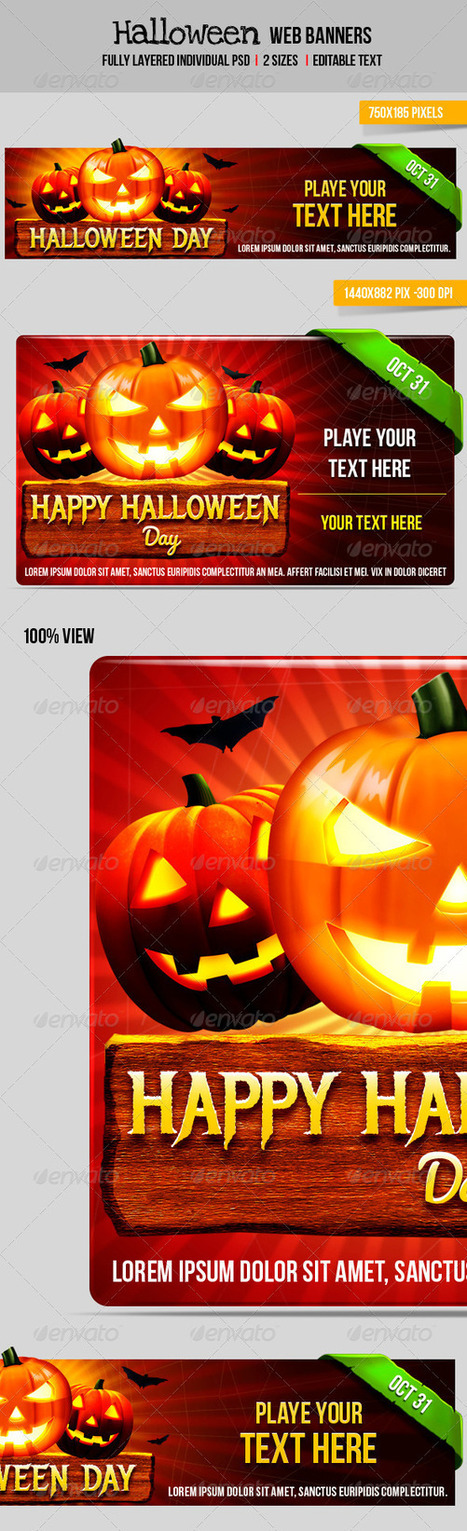Halloween Web Banner (Banners & Ads) | GFX Database | Graphics Share | Scoop.it