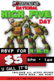 National High Five Day - Events | Turtle Bay NYC | Best Bars Midtown NYC | Scoop.it