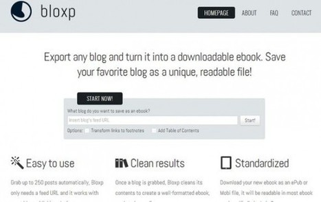 Bloxp: convierte tu blog personal en un libro digital | TIC y Educacion Moron | Scoop.it
