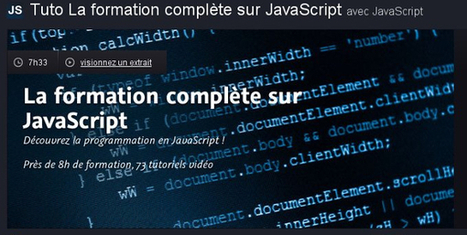 23 ressources pour bien commencer ou progresser en Javascript - tuto-javascript | Web mobile - UI Design - Html5-CSS3 | Scoop.it