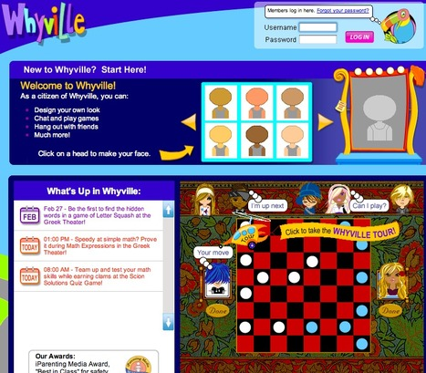 Welcome to Whyville! For Ages 7-16 | Digital Delights - Avatars, Virtual Worlds, Gamification | Scoop.it