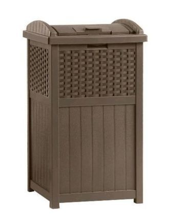 Patio Furniture Trash Garbage Can Wicker Resin Outdoor Bag Panel Storage Hide | Home and Business | Scoop.it