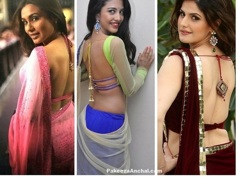Actress in Backless Blouses with Strings from India | Indian Fashion Updates | Scoop.it