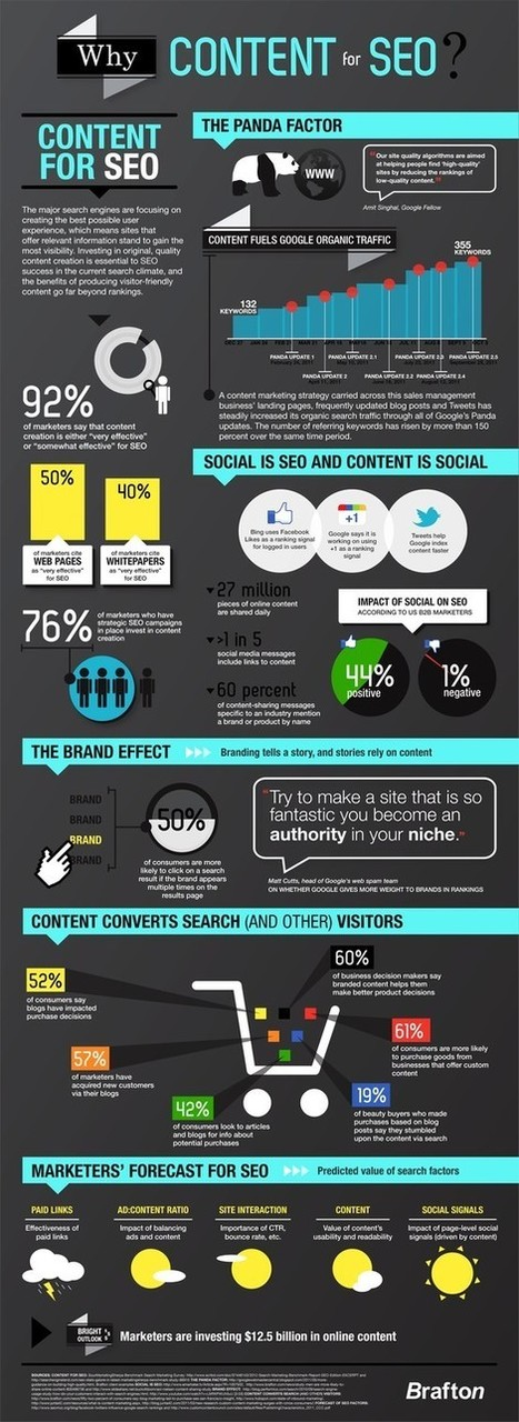 Social Media Infographics - Het belang van content voor SEO | ten Hagen on Social Media | Scoop.it