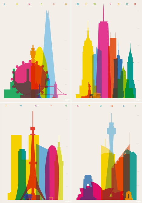 Colorful City Silhouette Prints by Yoni Alter | [graphic + web design] - typography, ergonomy & visual identity | Scoop.it