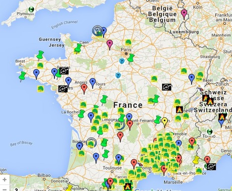 Lieux de vie,  bases nomade, collectifs, squats, ecolieux...   Les cartes des Alternatives - Géographie de la transition   Scoop.it