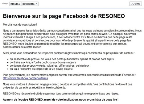 Pourquoi faut-il une Nétiquette Facebook ? | Management et promotion | Scoop.it