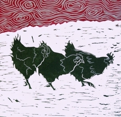 Artwork: Three Hens - Open House Art | Art - Crafts - Design | Scoop.it