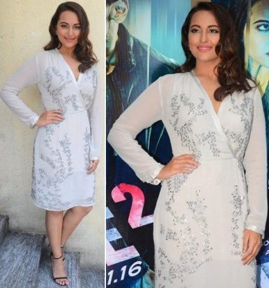Sonakshi Sinha promoting Force-2 in White Skirt | Indian Fashion Updates | Scoop.it