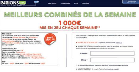 ParionsWeb récompense les meilleurs combinés | Paris sportifs & bookmakers | Scoop.it