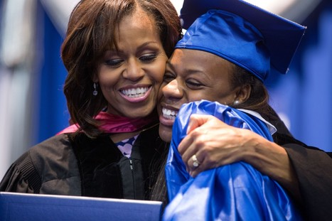 Michelle Obama uses life story to promote education initiative - Washington Post   Humanity? Where are we headed?   Scoop.it