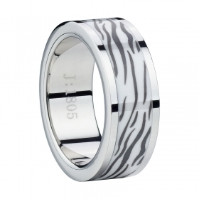 Stainless Steel with Unique Black Ceramic texture Inlay - Tungstenjewellry.com | I Love Tungstenjewelry | Scoop.it