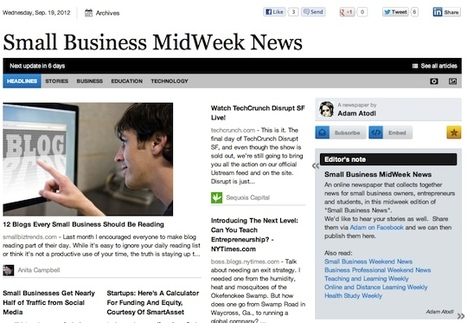 Sept 19 - Small Business MidWeek News is out | Business Updates | Scoop.it