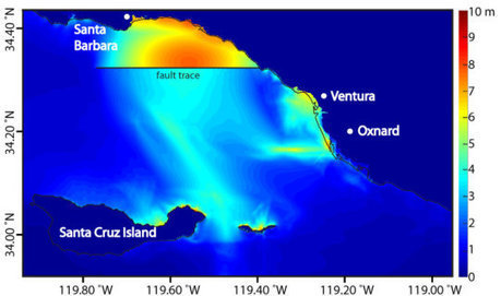 Computer models show significant tsunami strength for Ventura and Oxnard, California: Seismologists show modeled tsunami resulting from simulated earthquake in Ventura basin first propagates south ... | Sandy Beach Ecology & Management | Scoop.it