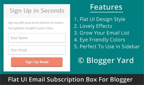 Simple Flat UI Email Subscription Box | Blogger Yard | Blogger Tips and Tricks | Blogging Ideas | SEO Tips | Make Money | Scoop.it