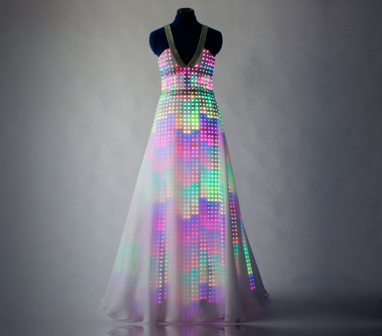 Smart textiles and digital fashion: How about just one dress...but lots of digital patterns?