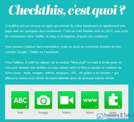 Checkthis : un service en ligne pour créer facilement et rapidement une page web | Bazaar | Scoop.it
