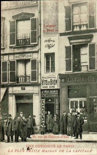 La classe de Fabienne: Le saviez-vous ? La plus petite maison de Paris | Paris | Scoop.it