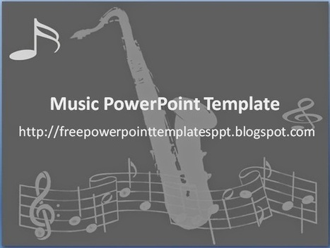 Music PowerPoint Template for Presentation with Notation and Instrument | Free PowerPoint Presentations Templates Background to Download | Scoop.it