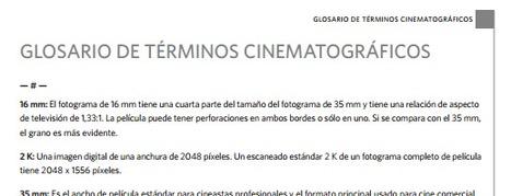 (ES) (PDF) - Glosario de términos cinematográficos | kodak.com | Glossarissimo! | Scoop.it