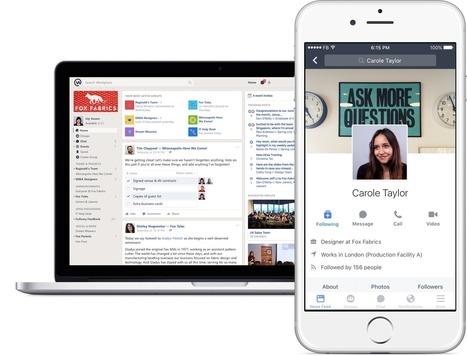 Workplace. Facebook au travail - Les Outils Collaboratifs | Les outils du Web 2.0 | Scoop.it