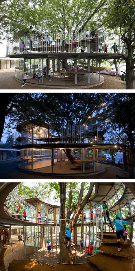 Au lieu d'abattre ces arbres, les architectes ont choisi de s'adapter | D'Dline 2020, vecteur du bâtiment durable | Scoop.it