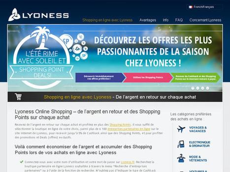 Le shopping en ligne avec Lyoness, c'est de l'argent en retour sur chaque achat   LyonessFr   Scoop.it
