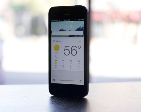 Your guide to Google Now on iOS - CNET (blog) | Writing a monthly column | Scoop.it