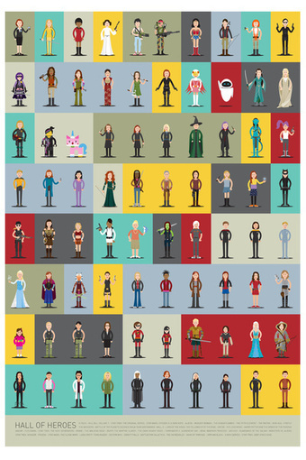 Heroes for girls: They exist! 80 of them in this poster. | Cool Things for kids | Scoop.it
